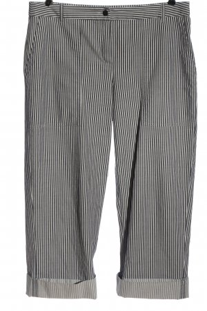 Peter Hahn Pantalone jersey nero-bianco motivo a righe stile casual