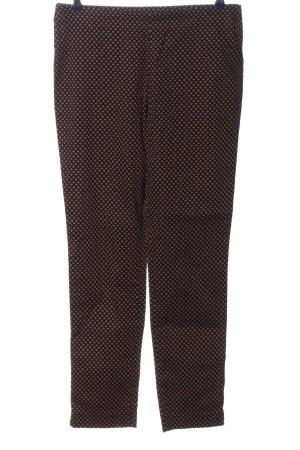 Peter Hahn Pantalone jersey nero-rosso stampa integrale stile casual