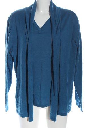 Peter Hahn Ensemble en tricot bleu style décontracté