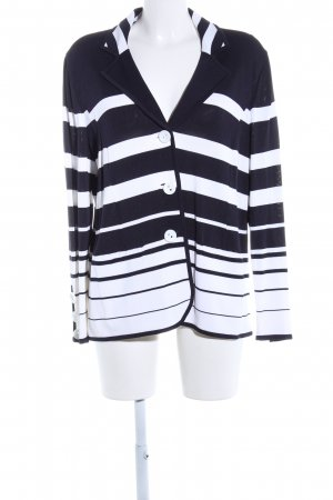 Peter Hahn Blazer tejido negro-blanco estampado a rayas estilo «business»
