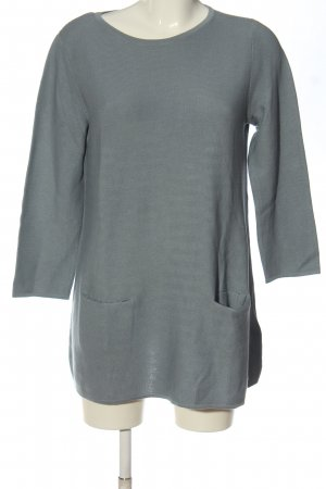 Peter Hahn Maglione lavorato a maglia grigio chiaro stile casual