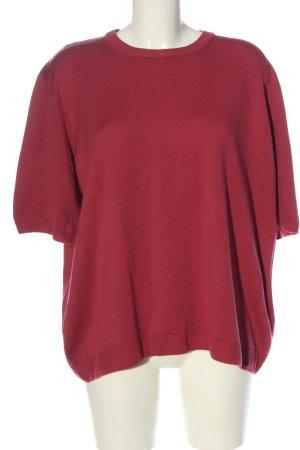 Peter Hahn Maglione lavorato a maglia rosso stile casual