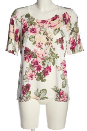 Peter Hahn T-shirts en mailles tricotées motif de fleur style décontracté