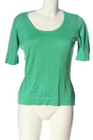 Peter Hahn Camisa tejida verde look casual