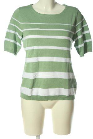 Peter Hahn Camisa tejida caqui-blanco estampado a rayas look casual