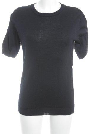 Peter Hahn Strickshirt dunkelblau Casual-Look