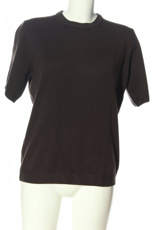 Peter Hahn Camisa tejida marrón look casual