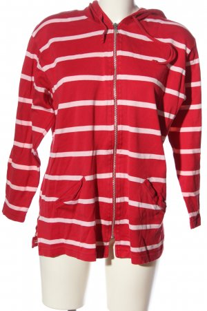 Peter Hahn Giacca fitness rosso-rosa motivo a righe stile casual