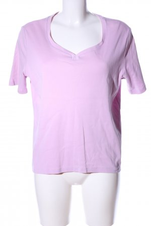 Peter Hahn T-Shirt lila Casual-Look