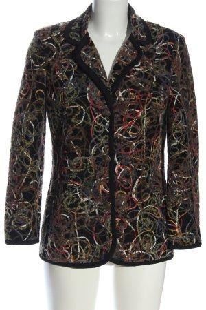 Peter Hahn Tweed blazer abstract patroon extravagante stijl