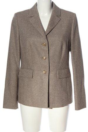 Peter Hahn Tweed blazer bruin gestippeld zakelijke stijl