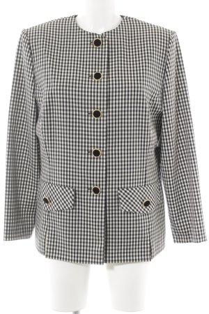 Peter Hahn Tweed blazer zwart-wit geruite print zakelijke stijl