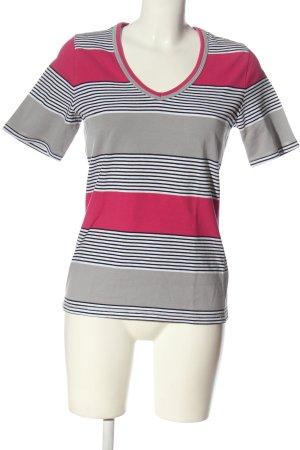 Peter Hahn T-shirt col en V motif rayé style décontracté