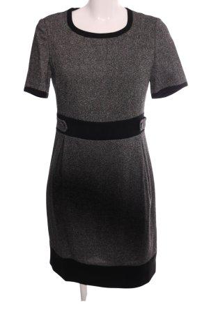 Peter Hahn Vestito di lana grigio chiaro puntinato stile professionale