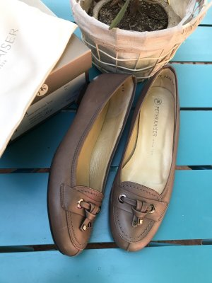 Peter Kaiser Mary Jane Ballerinas grey brown-light brown