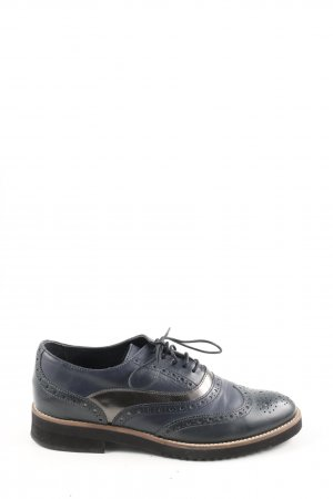 Peter Kaiser Wingtip Shoes blue casual look