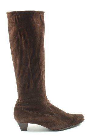 Peter Kaiser Botas de tacón alto marrón look casual