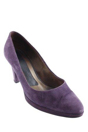 Peter Kaiser High Heels dunkelviolett Business-Look