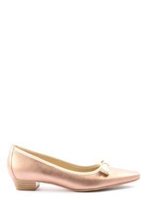 Peter Kaiser Ballerinas mit Spitze pink-wollweiß Casual-Look