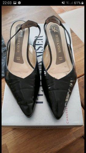 Peter Kaiser Lack Leder Schuhe schwarz gr. 37,5