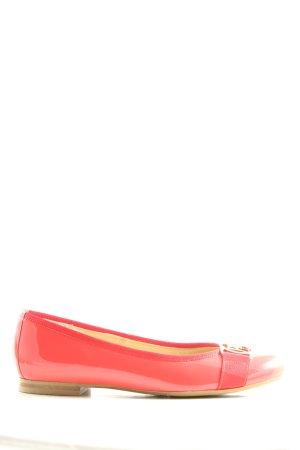 Peter Kaiser Ballerina di pelle verniciata rosa stile casual