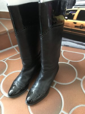 Peter Kaiser Jackboots black leather