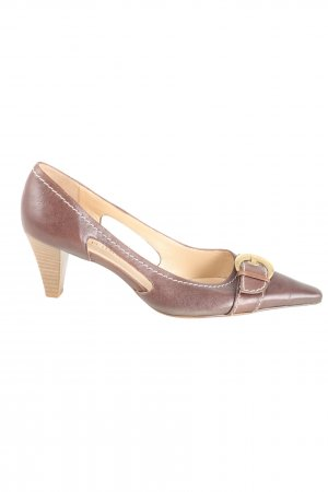 Peter Kaiser Mary Jane Pumps braun-goldfarben Casual-Look