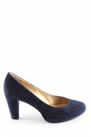 Peter Kaiser Plateau-Pumps blau Business-Look