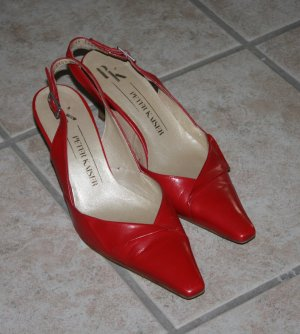 Peter Kaiser Slingback Pumps red leather