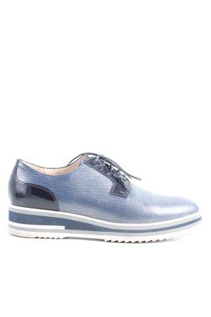 Peter Kaiser Zapatos sin cordones azul moteado look casual