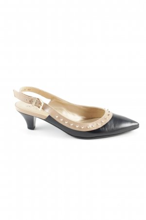 Peter Kaiser Slingback Pumps black-natural white casual look