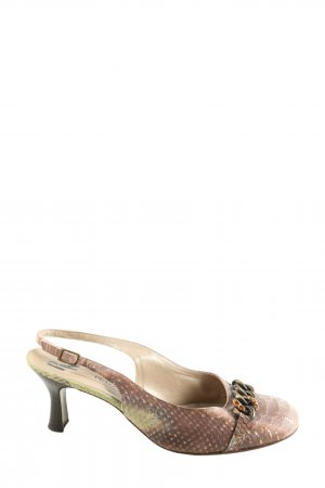Peter Kaiser Slingback-Pumps bronzefarben Allover-Druck Casual-Look