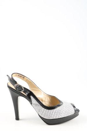 Peter Kaiser Slingback pumps zwart-wit zakelijke stijl