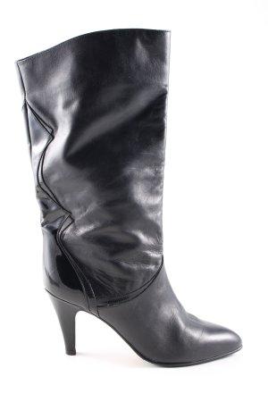 Peter Kaiser Bottines plissées noir style décontracté