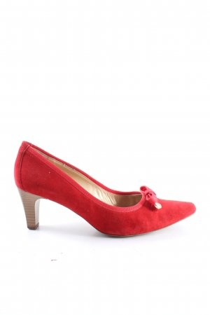 Peter Kaiser Spitz-Pumps rot Casual-Look