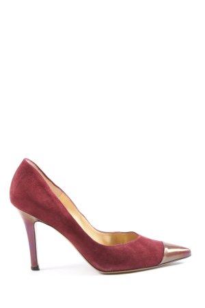 Peter Kaiser Spitse pumps rood zakelijke stijl