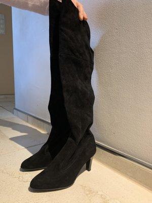 Overknees black suede