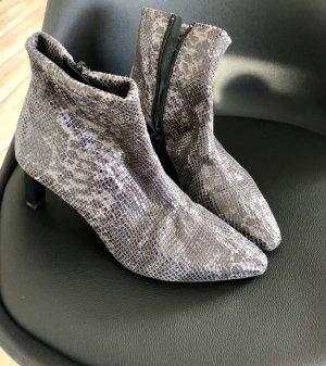Peter Kaiser Stiefelette Sock Boots Snake Print Gr. 39 Echtleder wie neu