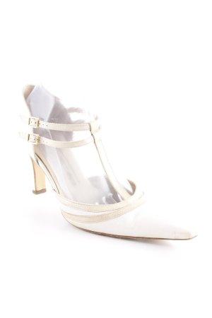 Peter Kaiser Zapatos de tacón con barra en T crema-beige claro look casual