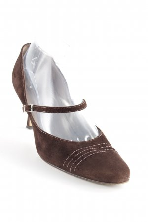 Peter Kaiser T-Strap Pumps dark brown