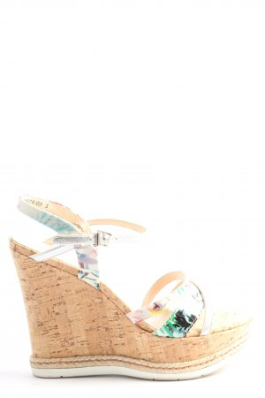 Peter Kaiser Wedge Sandals multicolored casual look