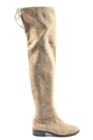 Peter Kaiser Botas de pantorrilla ancha blanco puro elegante