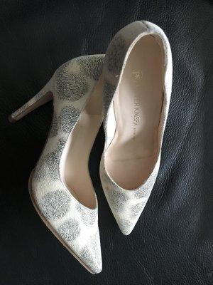 Peter Keiser Schuhe Pamps High Heels Leo-Muster Leder Animalprint Gr.37 Neu