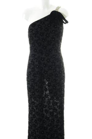 Peter Keppler Abendkleid schwarz Blumenmuster Elegant