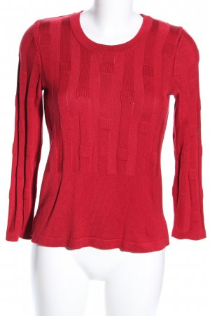 Peter Luft Rundhalspullover rot Casual-Look