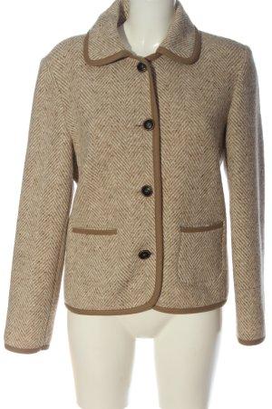 Peter Unützer Wool Blazer natural white-brown business style