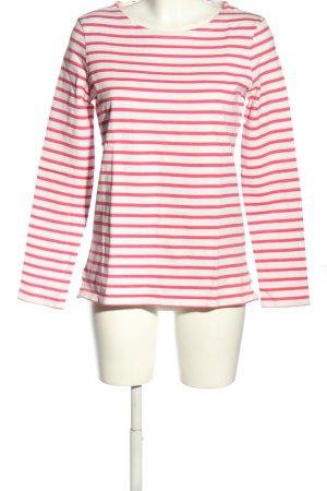 Petit bateau Longsleeve weiß-pink Allover-Druck Casual-Look