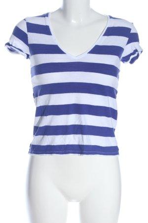 Petit bateau Ringelshirt weiß-blau Streifenmuster Casual-Look