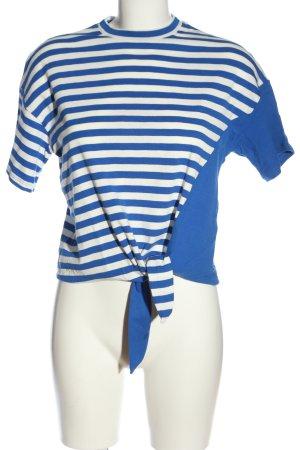 Petit bateau Ringelshirt blau-weiß Streifenmuster Casual-Look