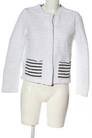 Petit bateau Blazer in maglia bianco motivo a righe stile casual